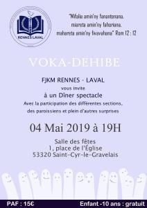 Dîner Concert FJKM Rennes Laval