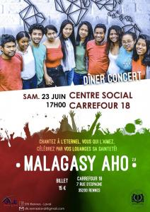 """Concert """"Malagasy aho 2.0"""" STK Rennes Laval 2018"""